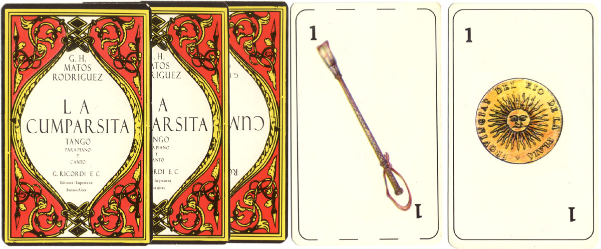 'Tango' playing cards manufactured in Argentina, anonymous manufacturer, 2001