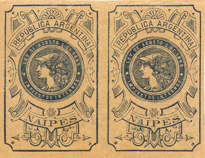 tax stamp referring to a law of 2nd August 1895