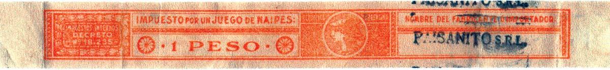 1 Peso taxband, c.1953