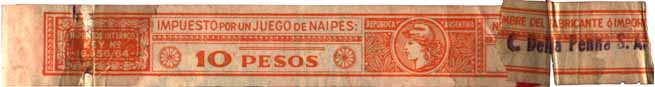 Taxband from Naipes Congreso, c.1965