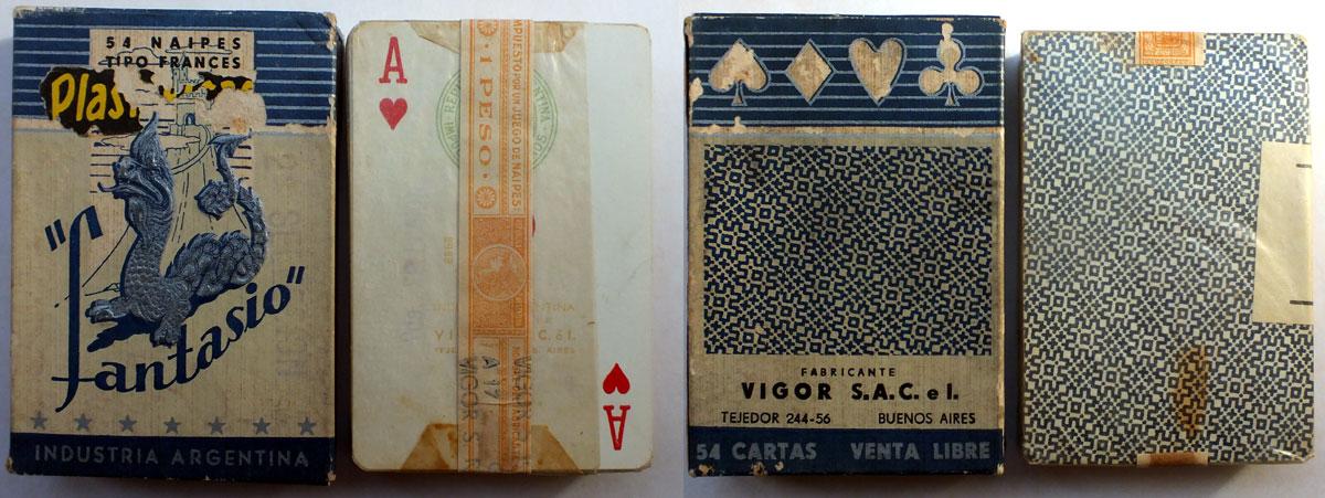 Naipes Fantasio by Vigor S.A.C e I., 1960