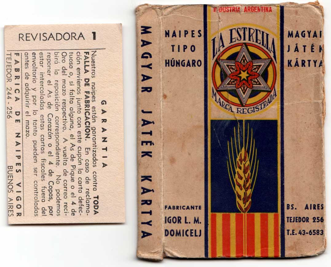 Naipes Tipo Húngaro, c.1955