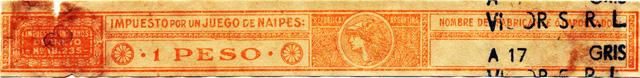 1 Peso orange tax band