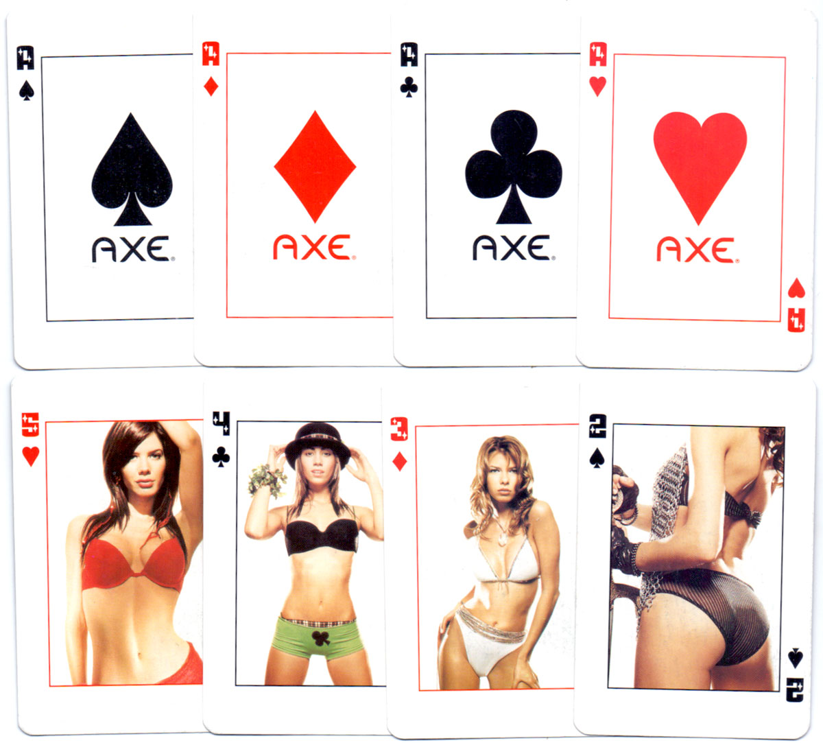Axe Deodorant Playing Cards by Zecat, Argentina, c.2004