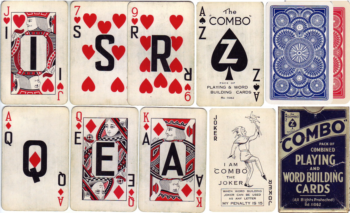 Combo deck, printed by Paper Products in 1934