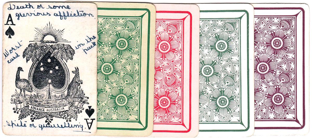 """""""Kookaburra"""" playing cards, c.1915-20"""