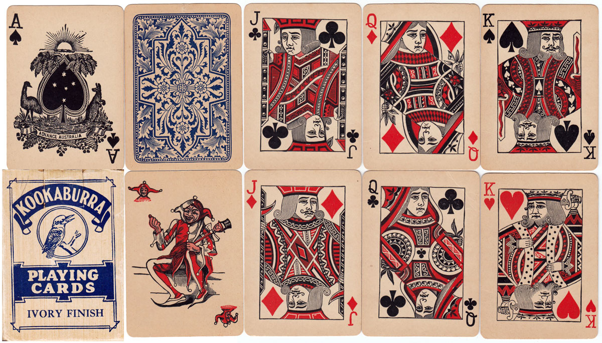"""Kookaburra"" playing cards, c.1915-20"