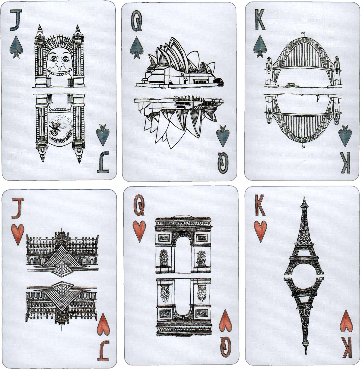 Erlenmeyer City Sights hand-illustrated playing cards by Stephanie Gray, 2015
