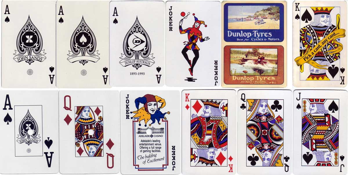 John sands the world of playing cards above john sands aces of spades following from hudson valentines dunlop advertising pack 1993 king of spades from publicity brochure colourmoves Image collections