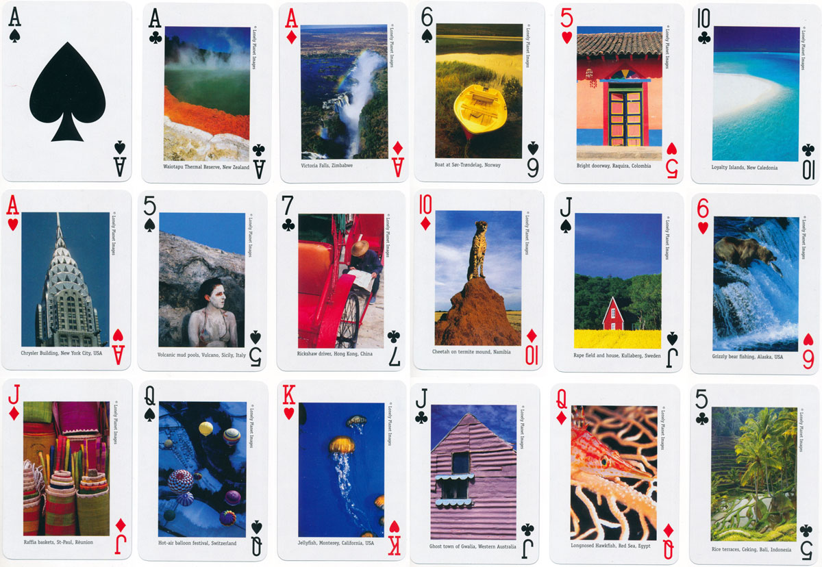 Lonely Planet playing cards published by Lonely Planet Publications Ltd, Australia, 2002
