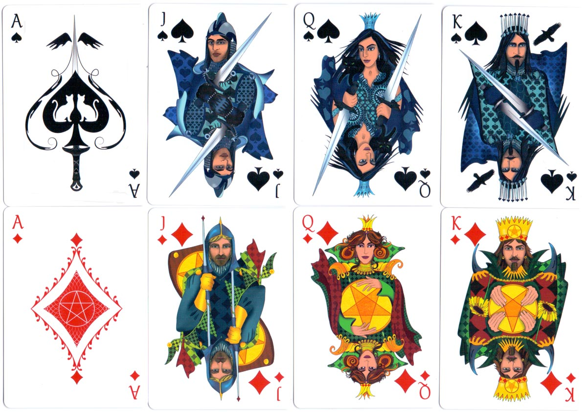Nine Lives Playing Cards designed by Annette Abolins, 2016