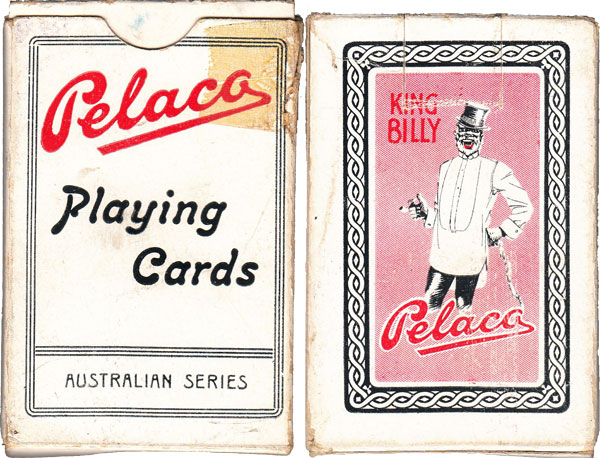 Box from 'Pelaco' playing cards by Sands & McDougall, Australia, c.1930