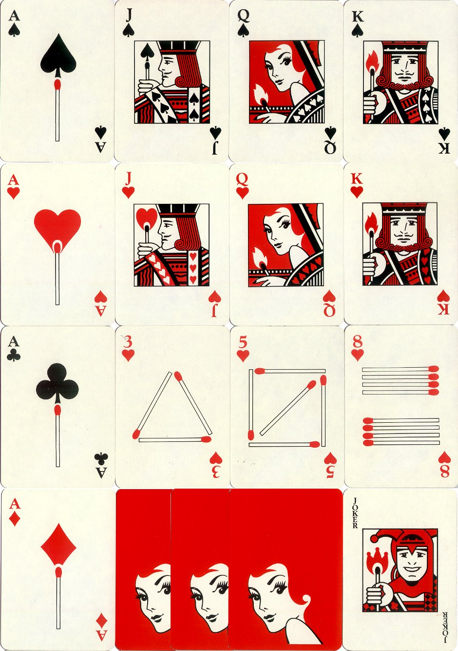 Redheads Match Poker Playing Cards published by Bryant & May, c.1975-80