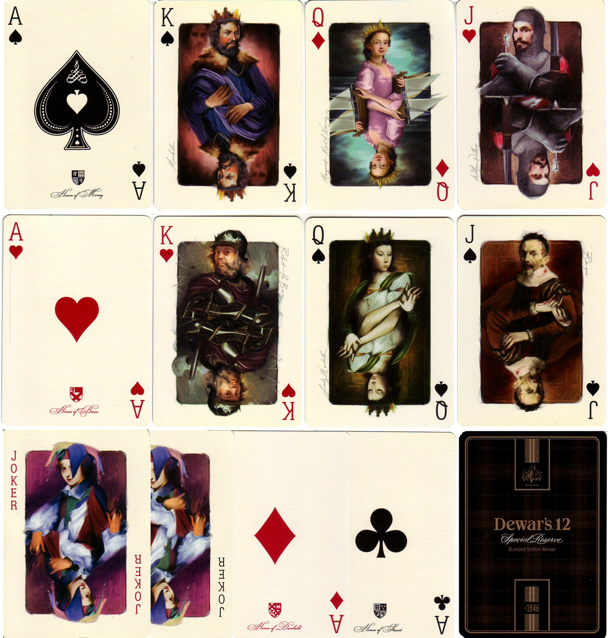 playing cards for Dewar's by SNP Ausprint Pty Ltd