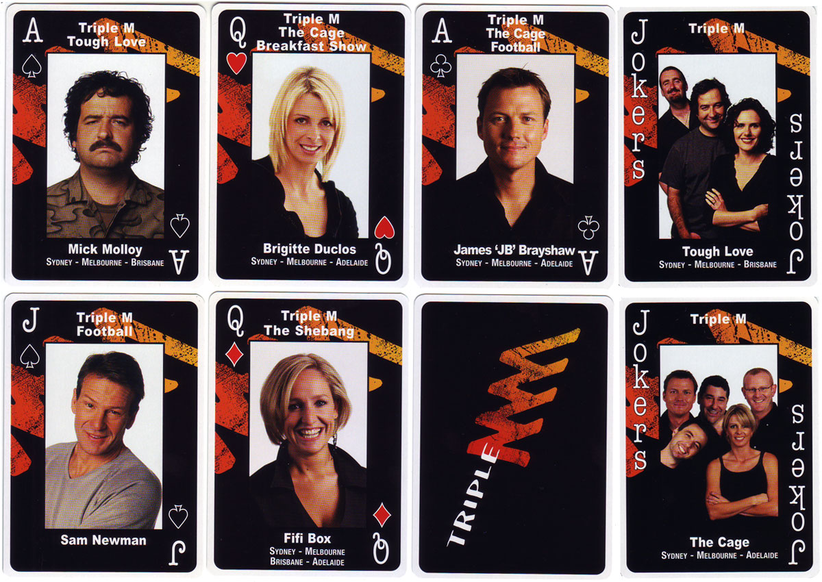 playing cards for Triple M by SNP Ausprint Pty Ltd