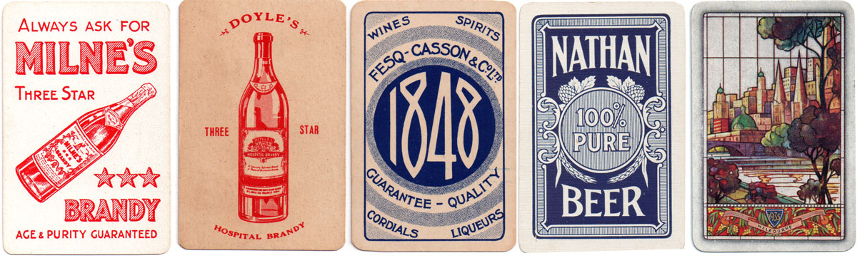 assorted back designs by Spicer & Detmold Ltd