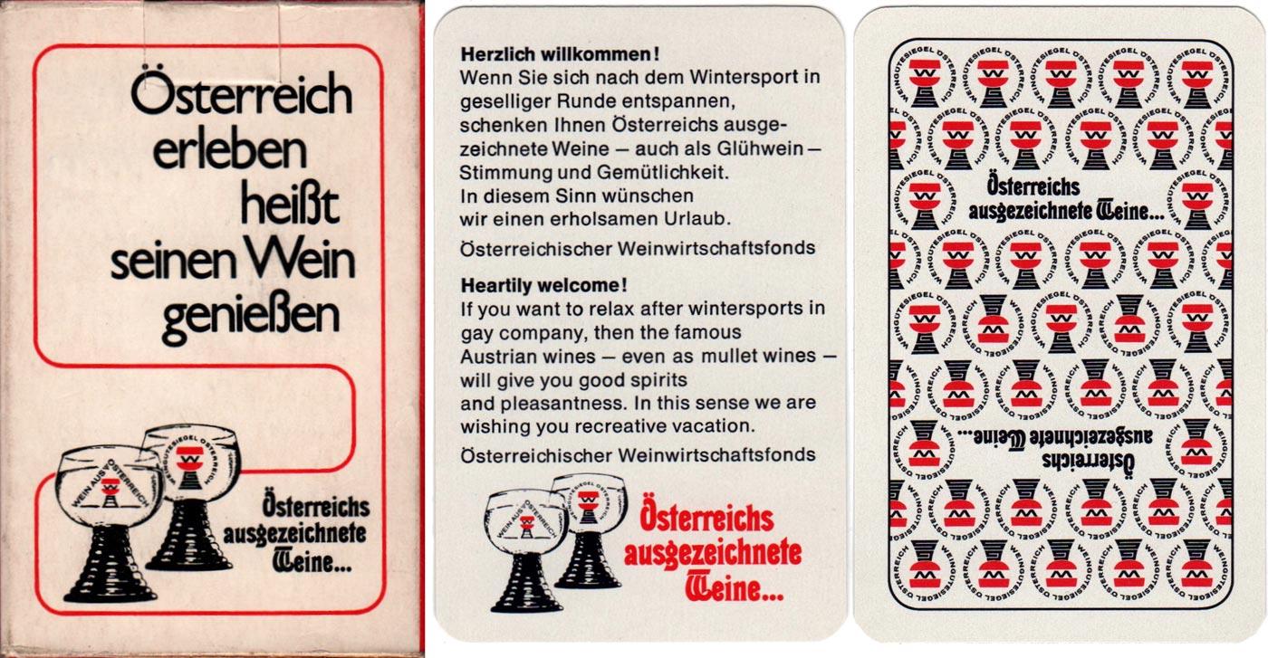 Skat deck for Austria's excellent wines,  Österreichischer Weinwirtschaftsfonds, c.1965