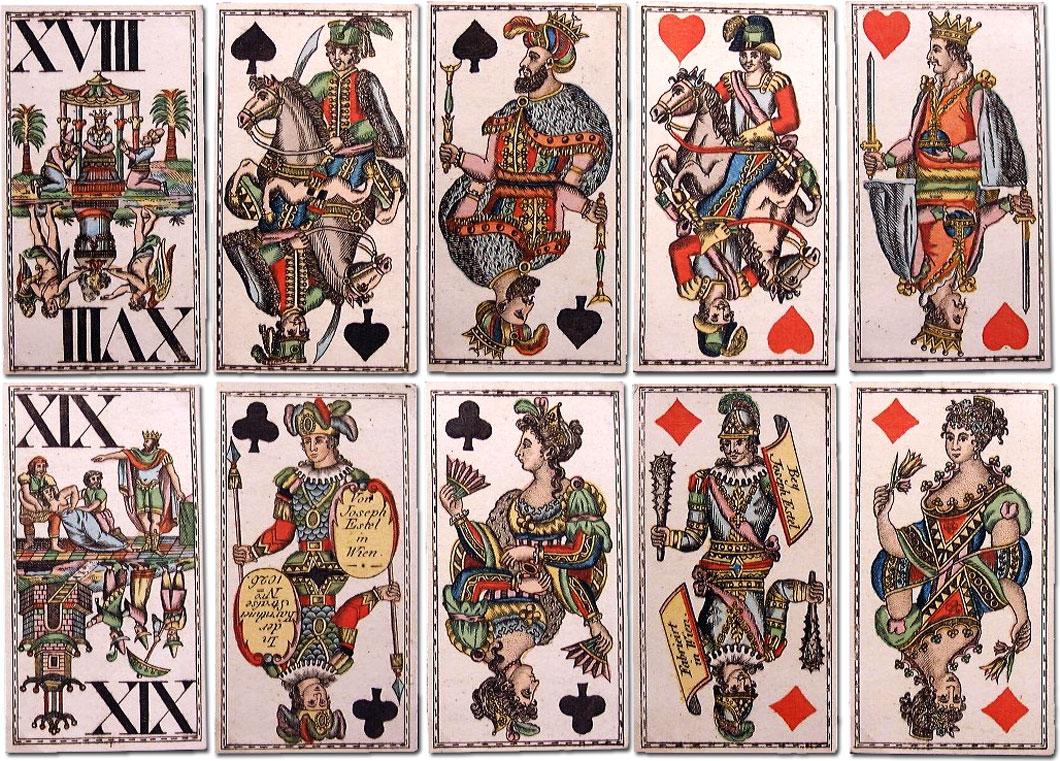 Joseph Estel, Vienna, Tarok Cards, 1820