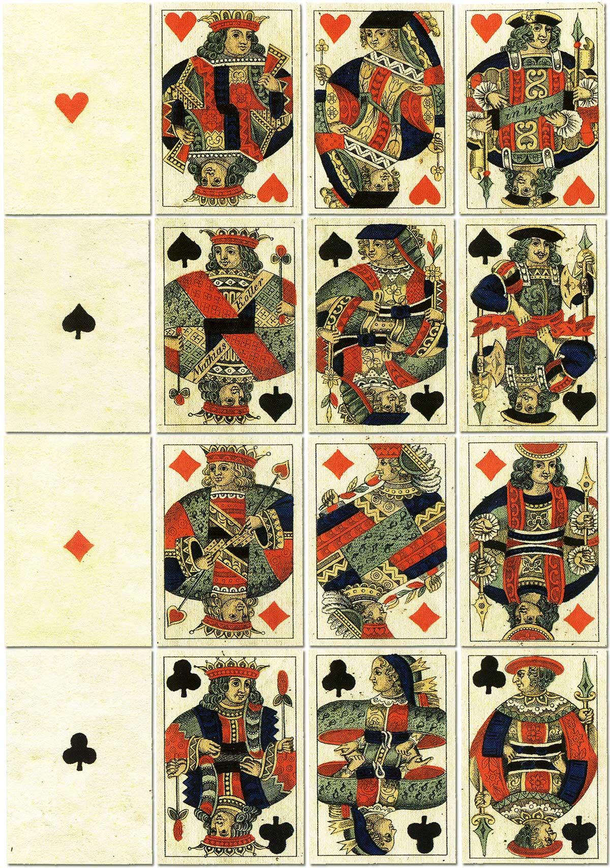 Vienna pattern, or 'Wiener Bild' pack, manufactured by Mathias Koller, Vienna, c.1815