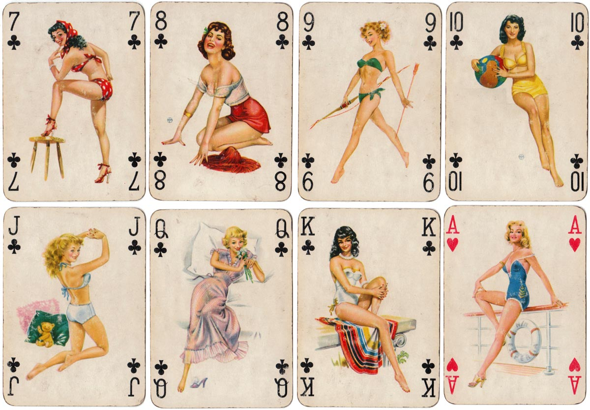 Baby Dolls pinup deck designed by Willy Mayrl, published by Piatnik, 1957