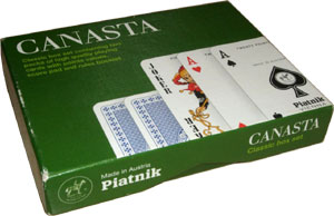 "Piatnik ""Canasta"" set, 1990s or later"
