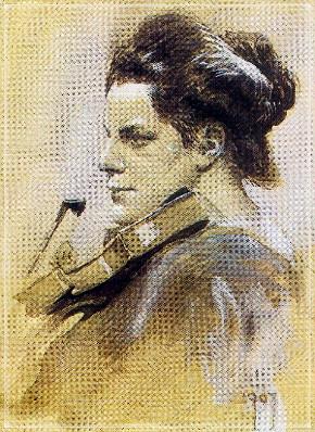 Ditha Moser portrait, 1907