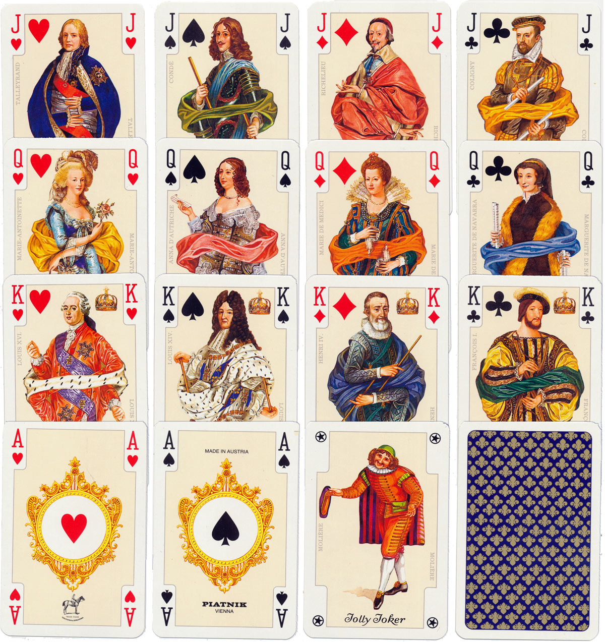 """France Royale"" Playing Cards, Piatnik 1998, 2002"