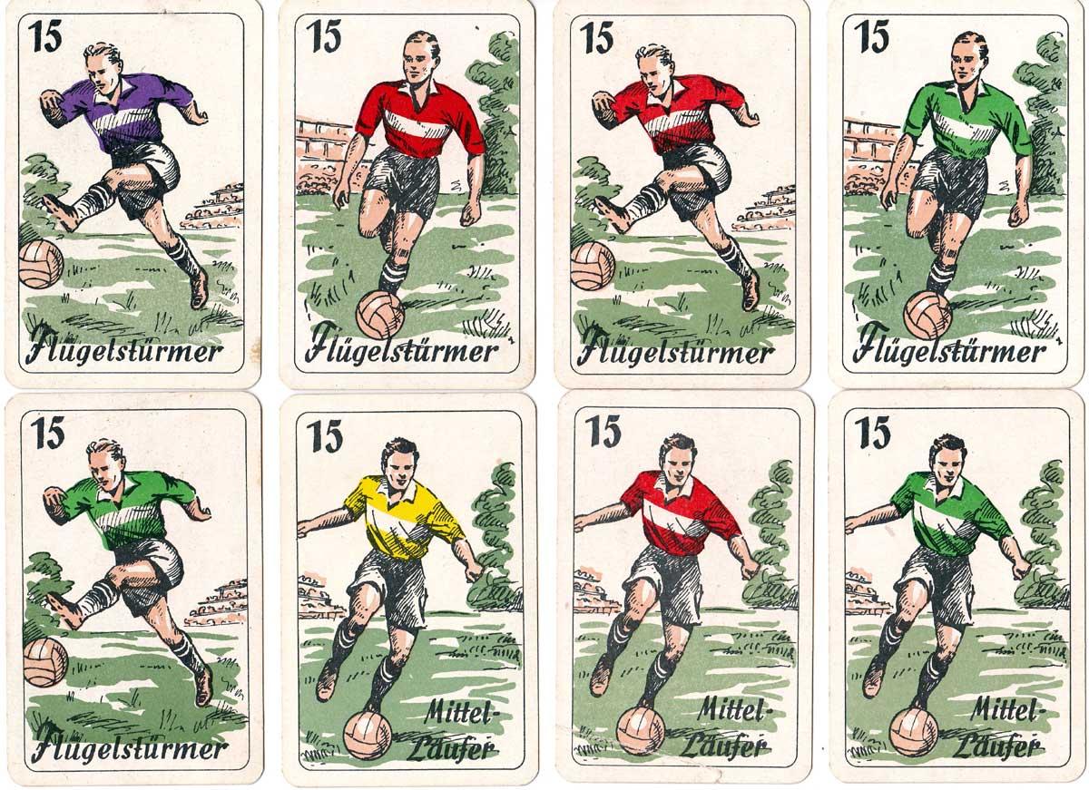 """""""Goal"""" Fußball Spielkarten manufactured by Ferd. Piatnik & Söhne Wien, c1930s"""