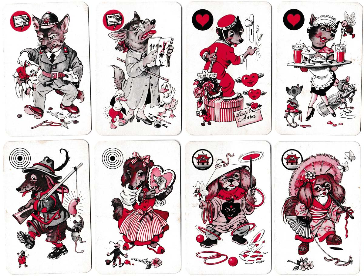 Dog-themed Black Peter game illustrated by Willy Mayrl, c.1960