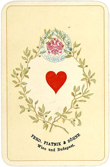 Kaiser Jubiläum Imperial playing cards made in Austria by Ferd Piatnik & Sons, Vienna