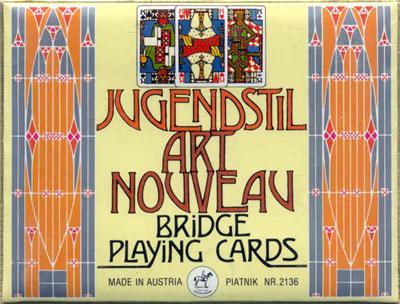 """""""Jugendstil Art Nouveau"""" Bridge box, Piatnik, 1980"""