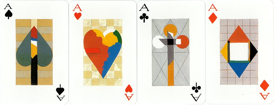 Four Aces designed by Karl Korab, published by Edition Hilger, 1991