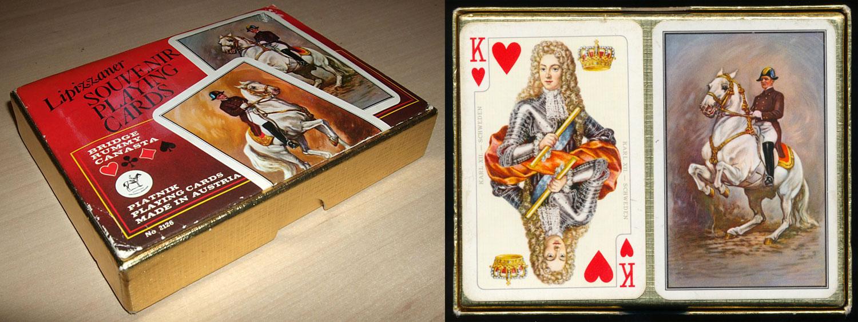Lipizzaner Souvenir playing cards No.2126, c.1976