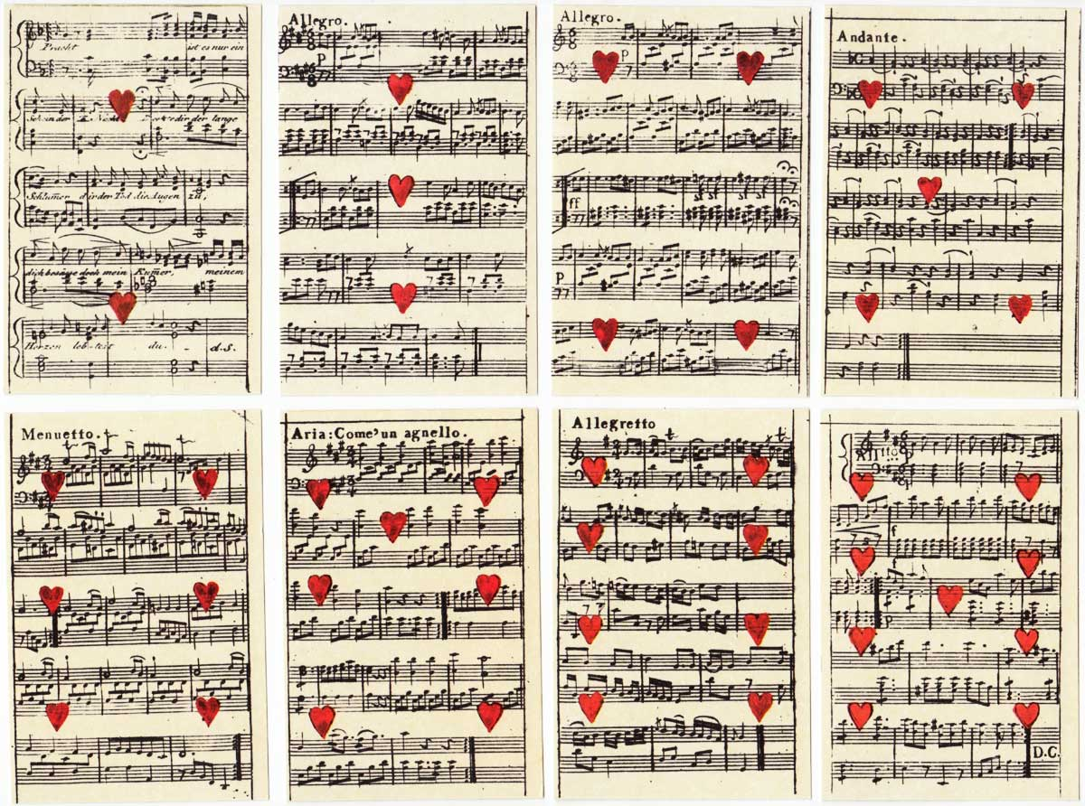 Johann H. Löschenkohl's Musical Playing Cards, originally published in Vienna in 1806