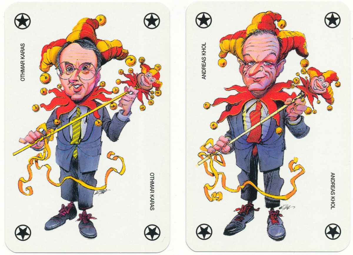 Promotional deck for the Austrian People's Party (ÖVP) printed by Piatnik, 1996
