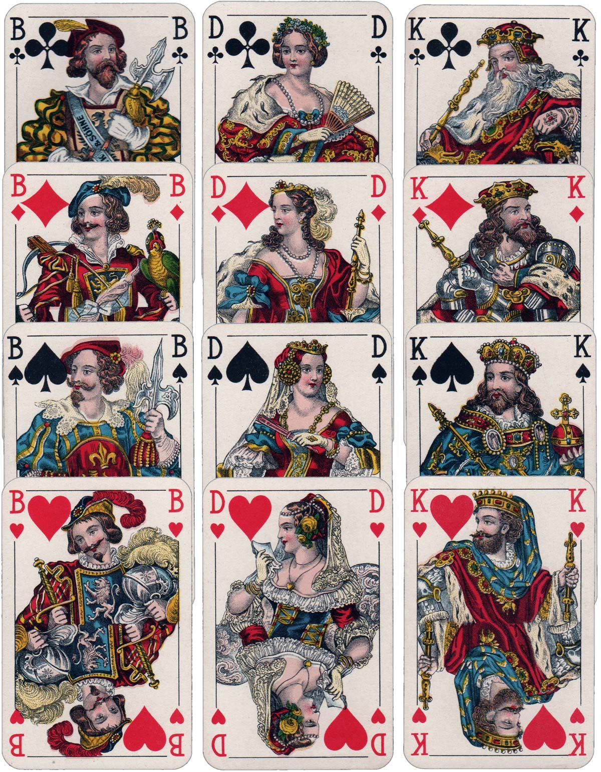 Non-standard French-suited cards published by Ferd Piatnik & Sõhne, Vienna, c.1940