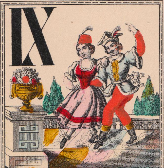 Nineteenth century Austrian Rural Scenes Tarock cards