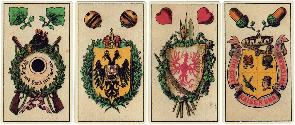 Facsimile of 1878 Tyrolean playing cards published by Piatnik