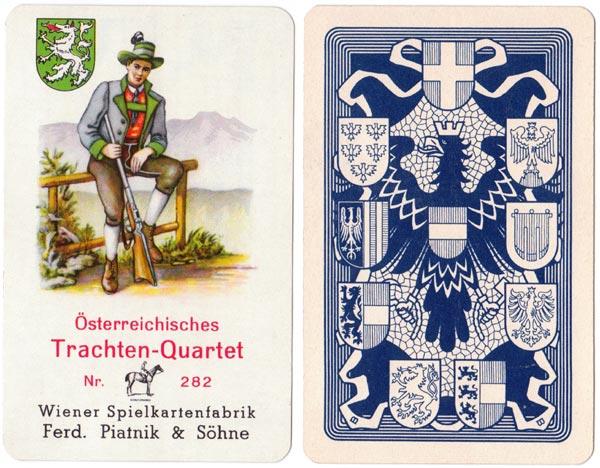 Österreichisches Trachten-quartett Nr.282 published by Ferd Piatnik & Söhne