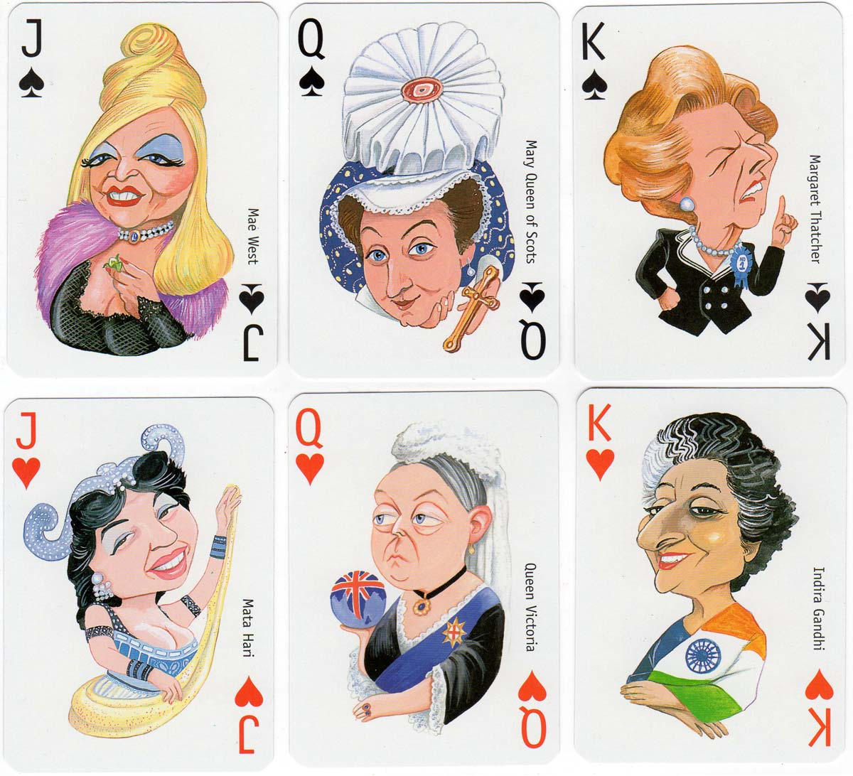 The Woman's Hour playing cards published by David Westnedge, 1996