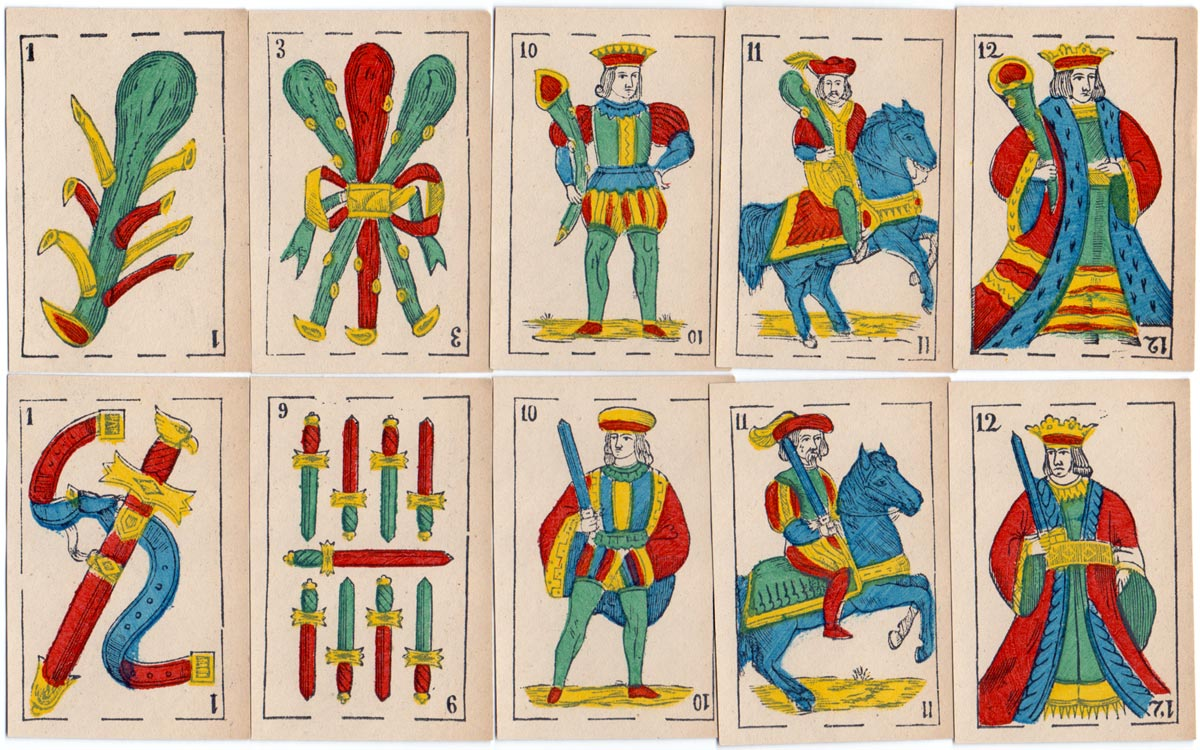 Anonymous Spanish-Suited Playing Cards, c.1875