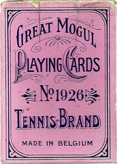 Box from Great Mogul Tennis playing cards, c.1926