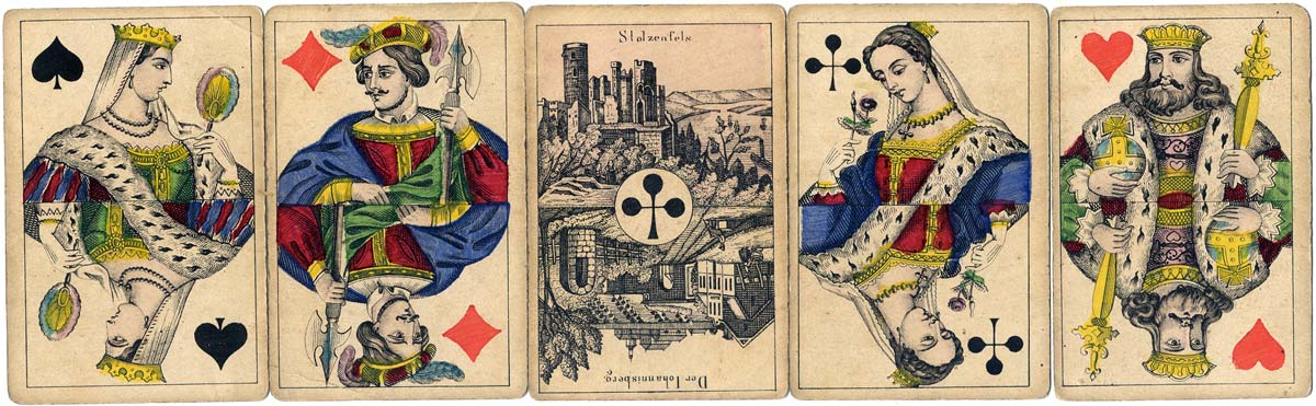 Modern Netherlands type playing cards for Germany, c.1880