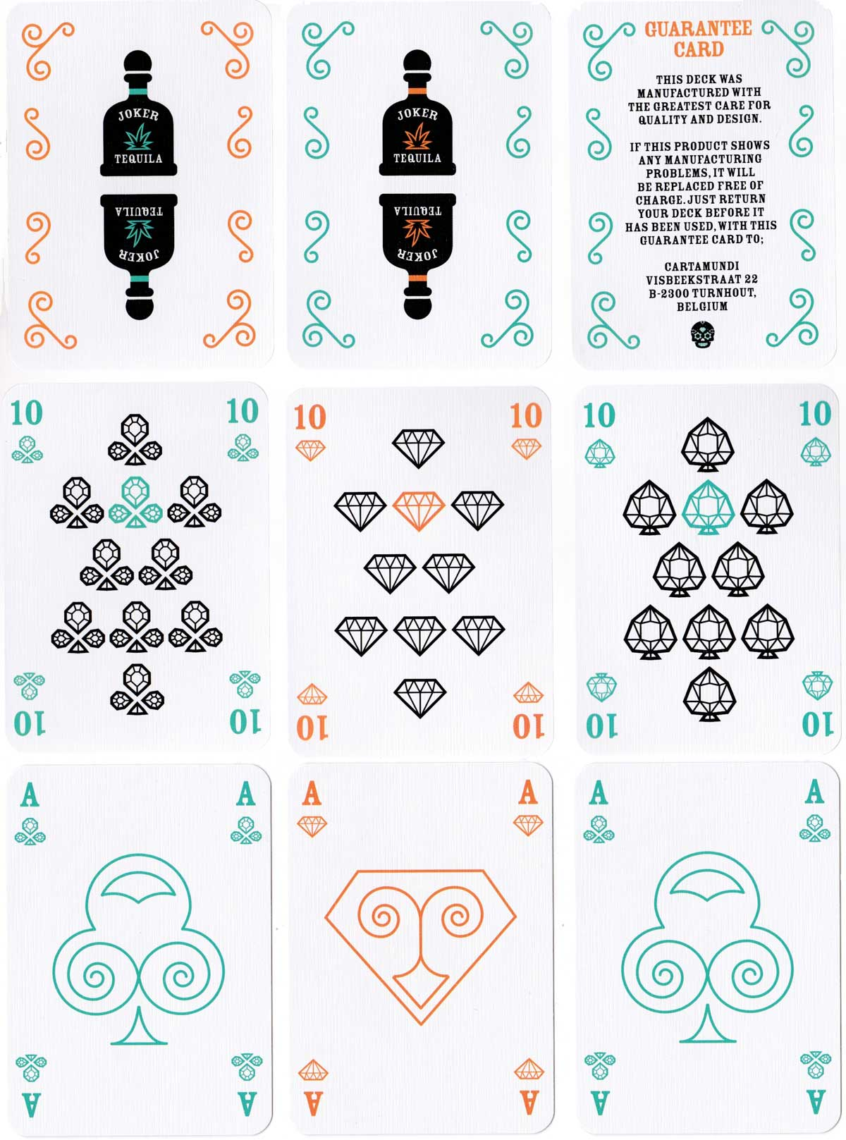 Calavera playing cards designed by Jirs Huygen for Cartamundi, 2015