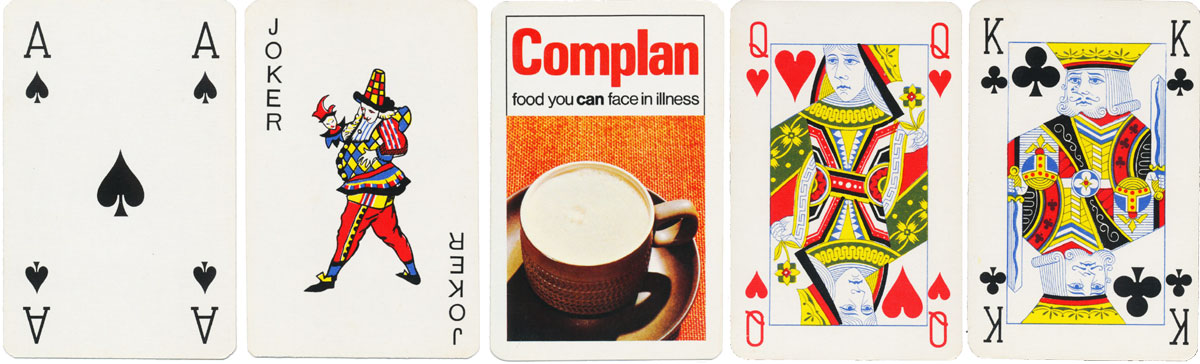 early Carta Mundi deck produced to advertise 'Complan' c.1970-1974