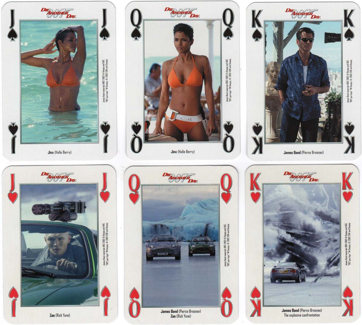 """""""007 Die Another Day"""" themed playing cards printed by Carta Mundi, 2002"""
