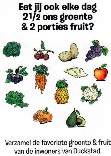 Donald Duck Vegetables & Fruit Quartet exclusive from Jumbo supermarkets, © Disney 2016