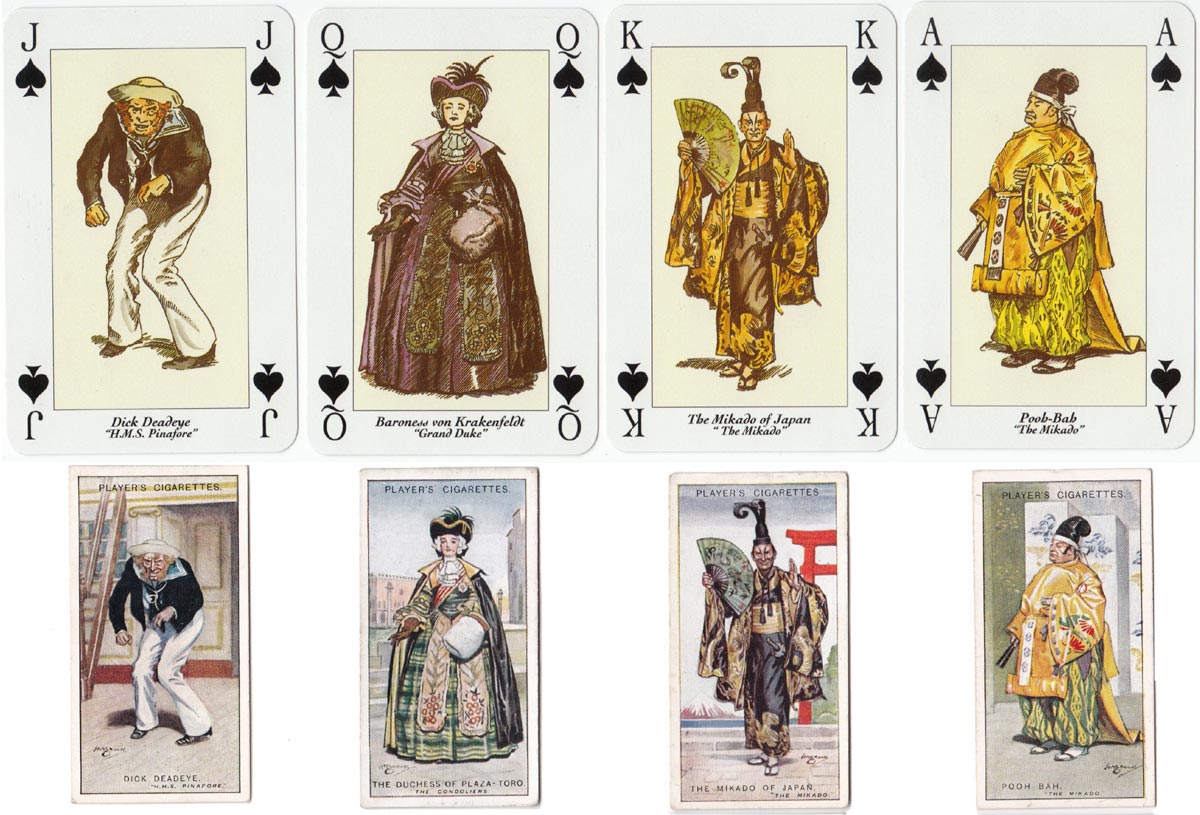 Gilbert and Sullivan playing cards printed by Carta Mundi, 1994