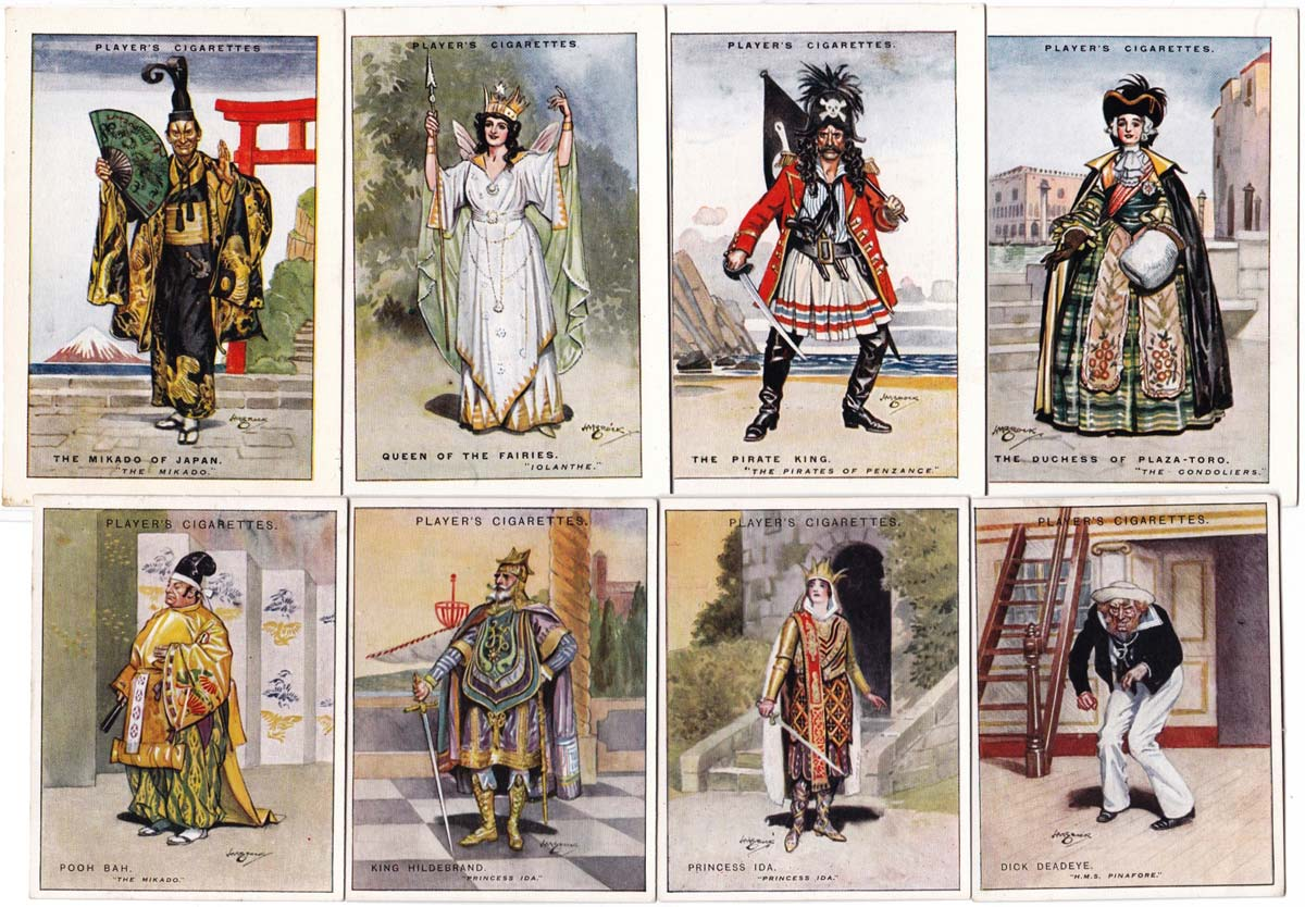 Players cigarette cards from 1925-1927 illustrated by H M Brock
