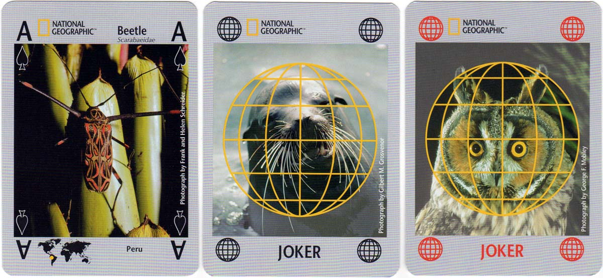 National Geographic Nature playing cards manufactured by Carta Mundi, 2006